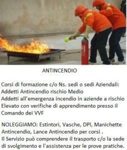 corso antincendio alto